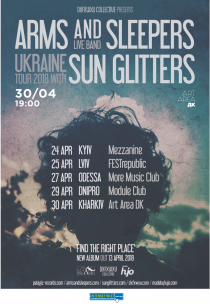 Arms and Sleepers /live band, USA + Sun Glitters /live, LUX